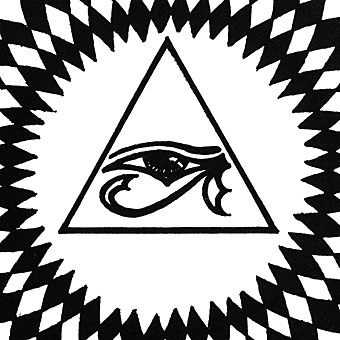 Church of Hawkwind booklet  detail  Eye Of Horus Triangle Tattoo