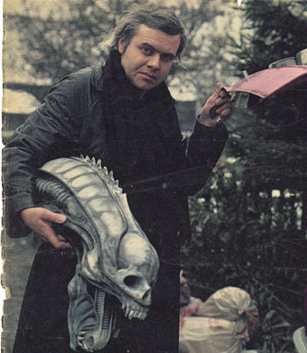 HR Giger  Photo by Eve Arnold  1979. The Man Who Paints Monsters In The Night